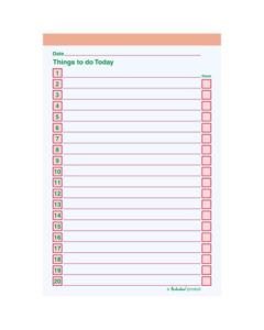 B6 THINGS TO DO PAD (PACK OF 5)